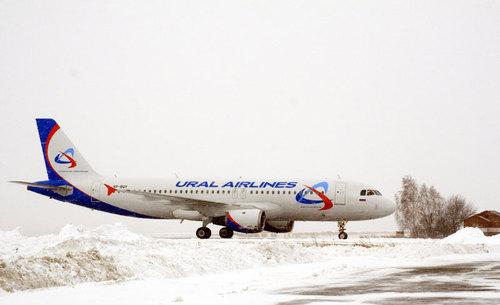 """поступил в  """"Уральские авиалинии """"...  Салон бизнес-класса этого A320 имеет кожаный салон.  Всего в самолете 138 мест..."""