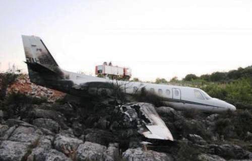 В Хорватии во время посадки загорелся самолет Cessna 550
