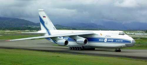 Российскуий грузовой самолет Ан-124 загорелся при взлете в Италии