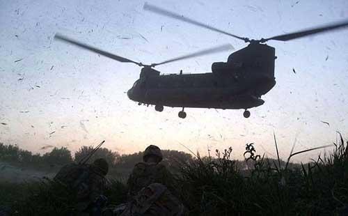 В Афганистане разбился вертолет с солдатами НАТО