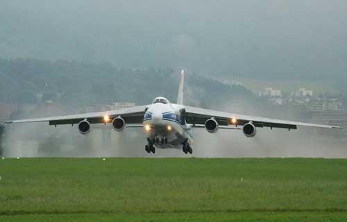 Пожана на борту российского Ан-124 в Италии не было