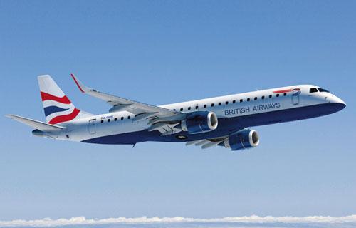 Компания British Airways приобретет два самолета Embraer-190