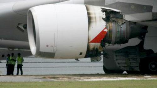 Qantas делает первые предположения разрушения двигателя на A380
