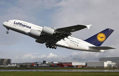 Компания Lufthansa заменила турбину на одном из Airbus A380