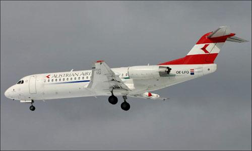 В аэропорту Минска при посадке загорелся Fokker-100