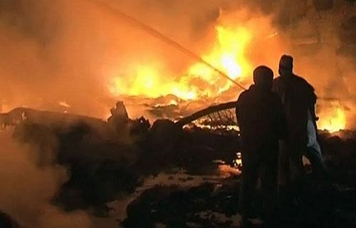 В Пакистане разбился грузовой самолет Ил-76