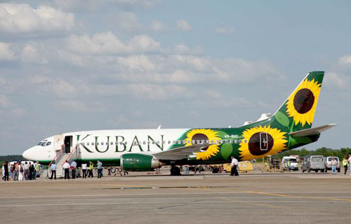 Аварийная посадка Боинга 737 компании Кубань в Кранодаре