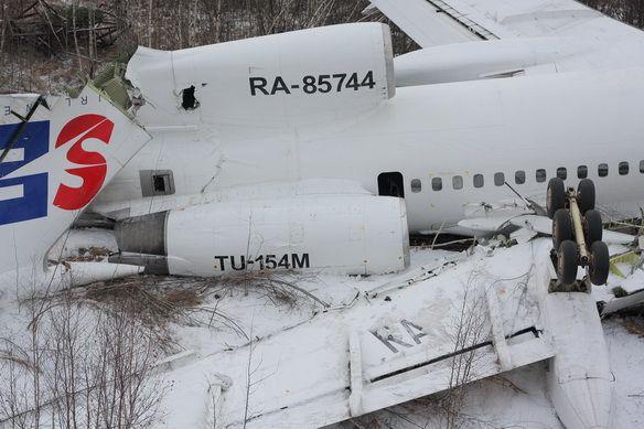 Аварийная посадка Ту-154 Дагестанских авиалиний в Москве