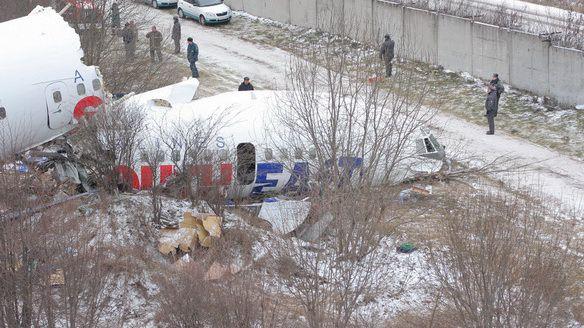 Разбитый самолет Ту-154 Дагестанских Авиалиний