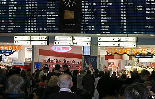 Многие пассажиры в Домодедово уже на грани нервного срыва