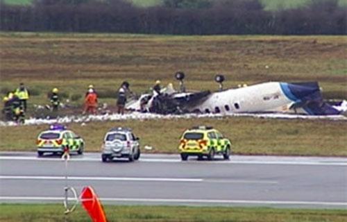 В Ирландии при посадке разбился небольшой самолет