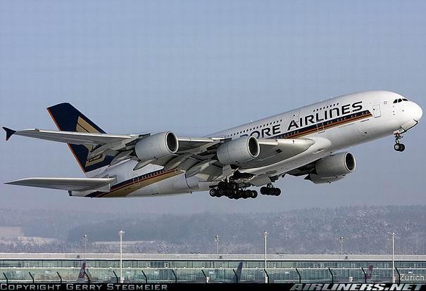 Airbus A380 авиакомпании Singapore Airlines