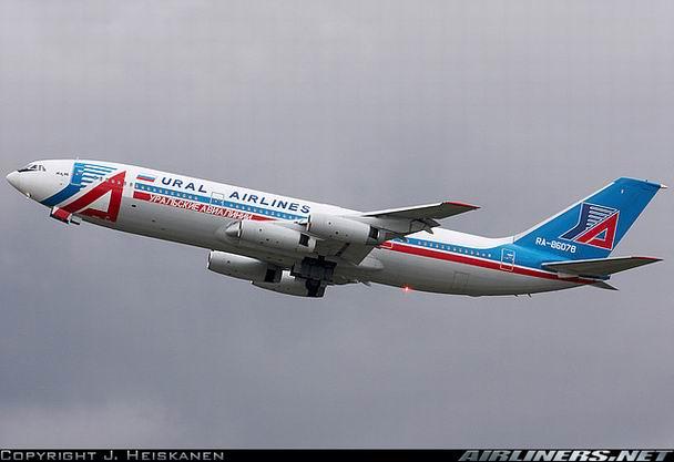 Фото Ил-86 компании Уральские авиалинии