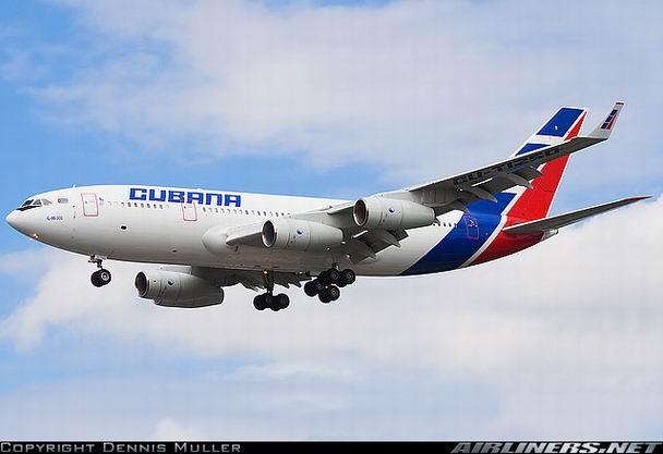 Посадка Ил-96-300 компании Cubana