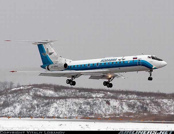 Посадка Ту-134 компании Колавиа