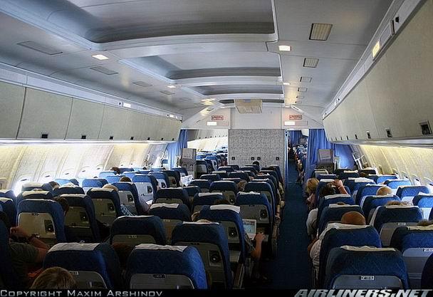 Салон самолета Ил-86