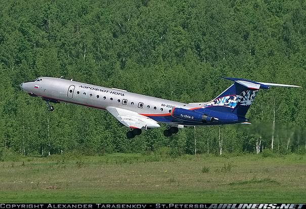 Взлет Ту-134 компании Аэрофлот