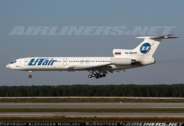 Посадка самолета Ту-154 компании UTair