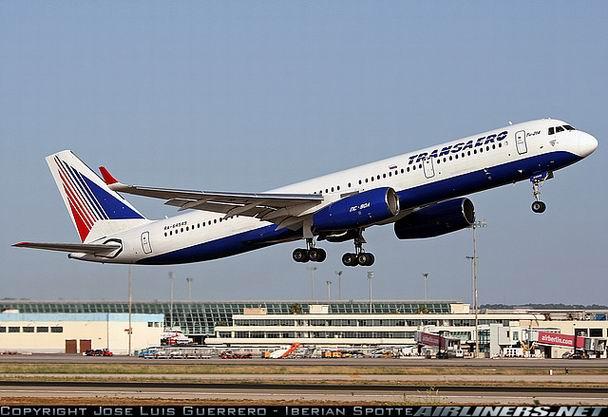 Взлет Ту-214 компании Трансаэро