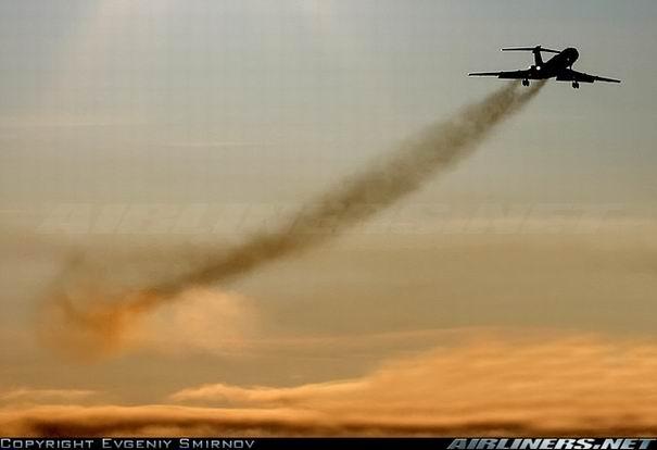 Взлет Ту-134 - фото