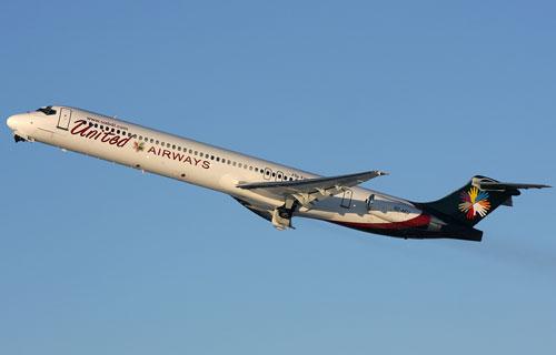 Самолет авиакомпании United Airways