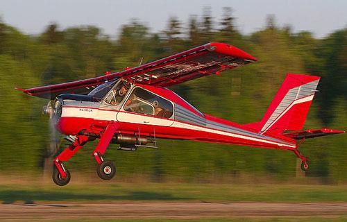 В Подмосковье частный самолет Wilga сел на автотрассу