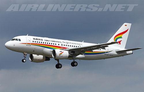 Компания Tibet Airlines получила свой первый Airbus A319