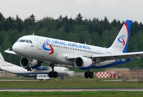 Airbus А320 компании Уральские авиалинии