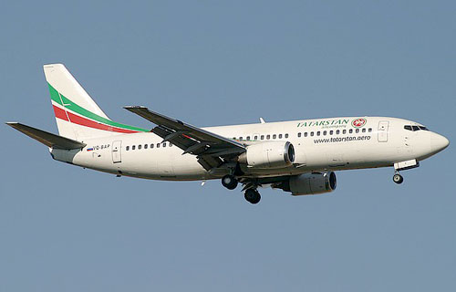 Boeing 737 авиакомпании Tатарстан