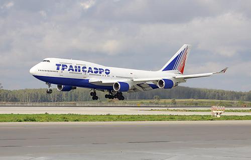 Фото самолета Boeing 747-400 компании Трансаэро