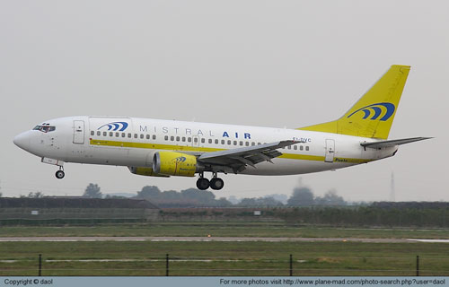 Boeing 737 авиакомпании Mistral Air