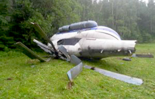 В Свердловской области потерпел крушение вертолет Ми-8