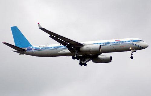 Самолет Ту-204 во Внуково