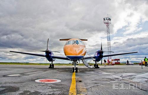 Embraer-120 в аэропорту Кольцово