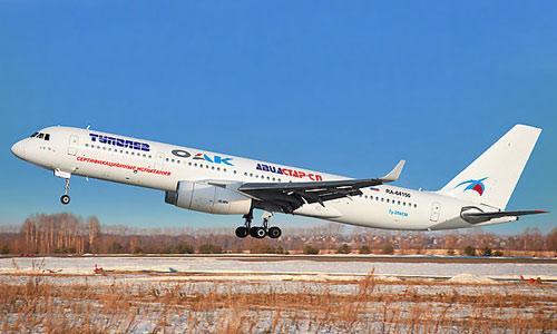 Фото нового самолета Ту-204 СМ