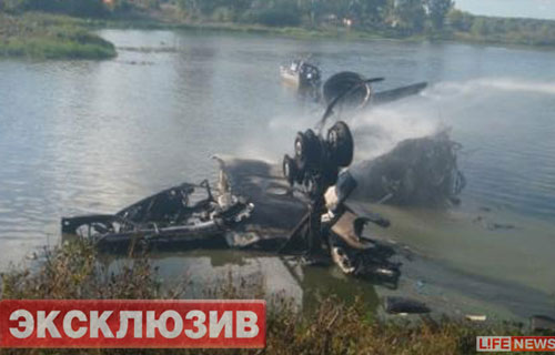 Фото с места крушения Як-42 в Ярославле