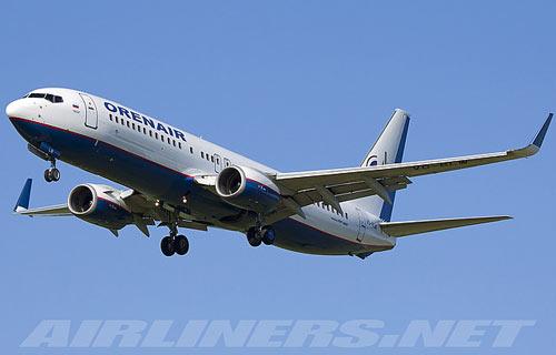 В Екатеринбурге аварийно сел Boeing 737 компании OrenAir