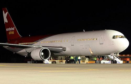 Вынужденная посадка Boeing 767 NordWind в Новосибирске
