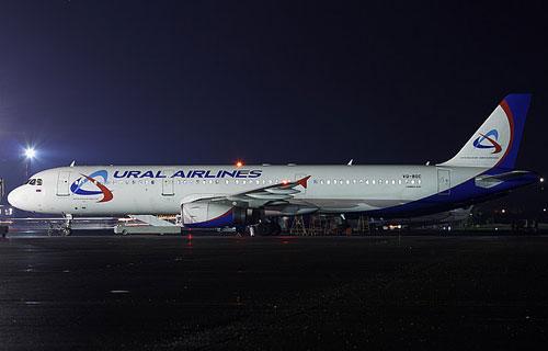 Фото Airbus A321 Уральских Авиалиний