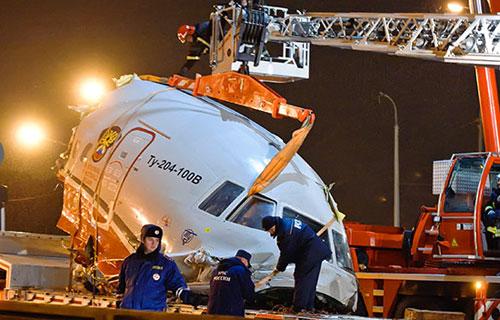Разбитый Ту-204 компании Red Wings