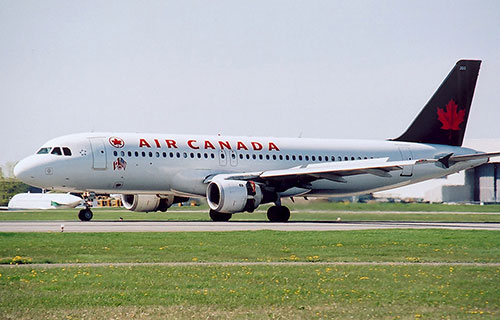 A-320 авиакомпании Air Canada