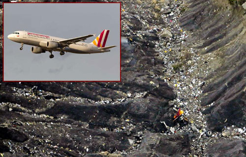 Обломки Airbus A320 компании Germanwings в Альпах