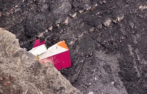Обломки Airbus A320 разбившегося в Альпах