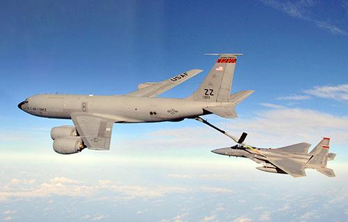 Самолет-заправщик КС-135R Stratotanker ВВС США