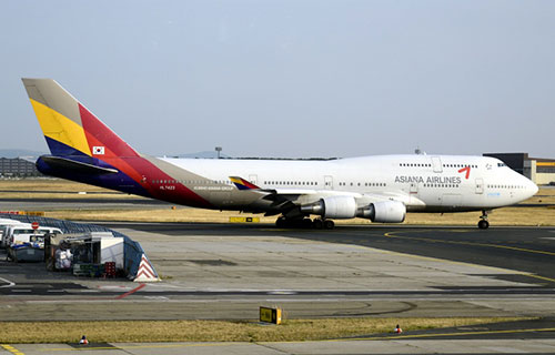 Самолет авиакомпании Asiana Airlines