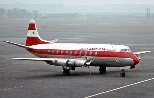 Vickers_Viscount авиакомпании Cambrian_Airways_