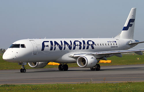 Самолет Embraer-190 авиакомпании FINNAIR