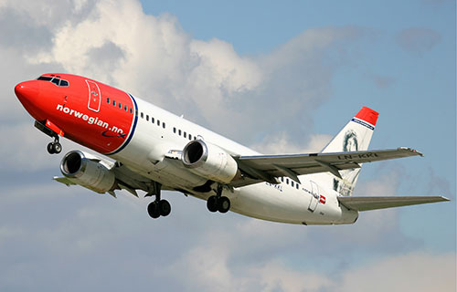 Boeing 737 авиакомпании Norwegian Air Shuttle