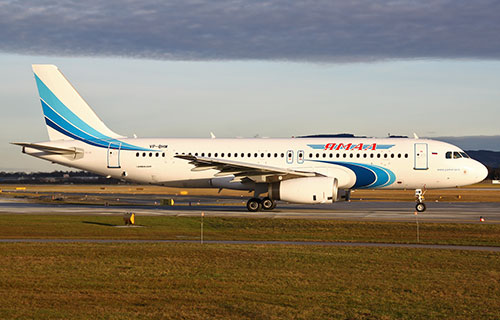 "Airbus A320 авиакомпании ""Ямал"""