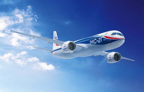 Российский пассажирский самолет МС-21
